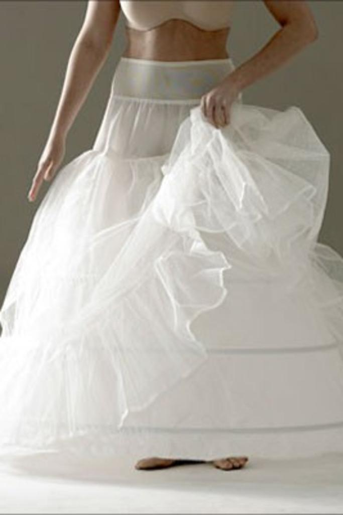 Jupon 112N - 2 Layer, 3 Hooped Petticoat