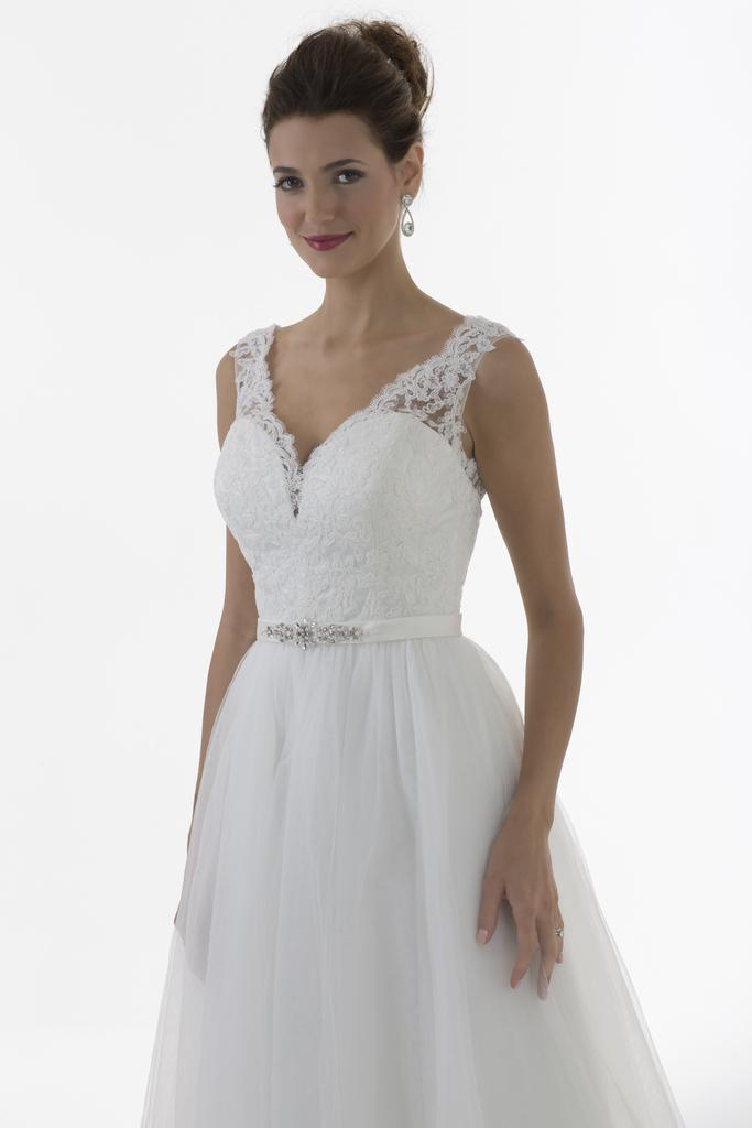 Vn6899 Venus Ivory Wedding Dress With Lace Straps Sweetheart