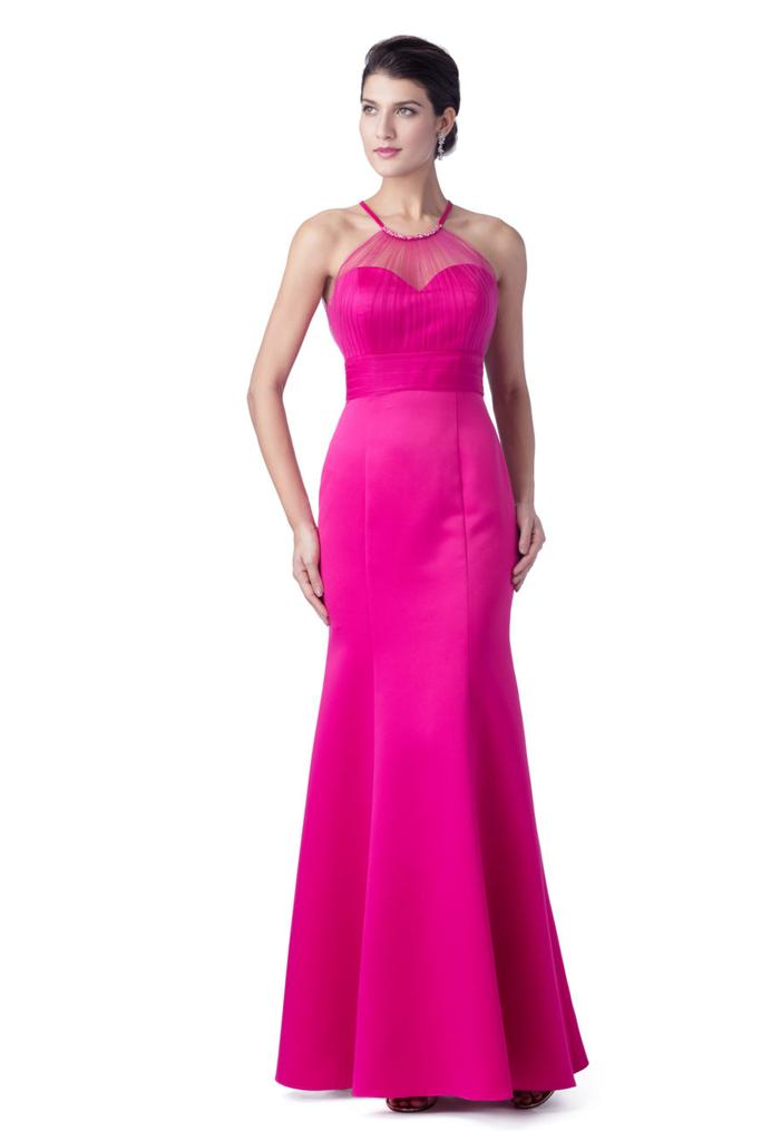 High Illusion Sweetheart Neckline Bridesmaid Dress