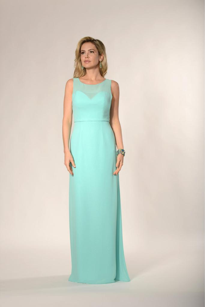 Illusion Sweetheart Neckline Bridesmaid Dress