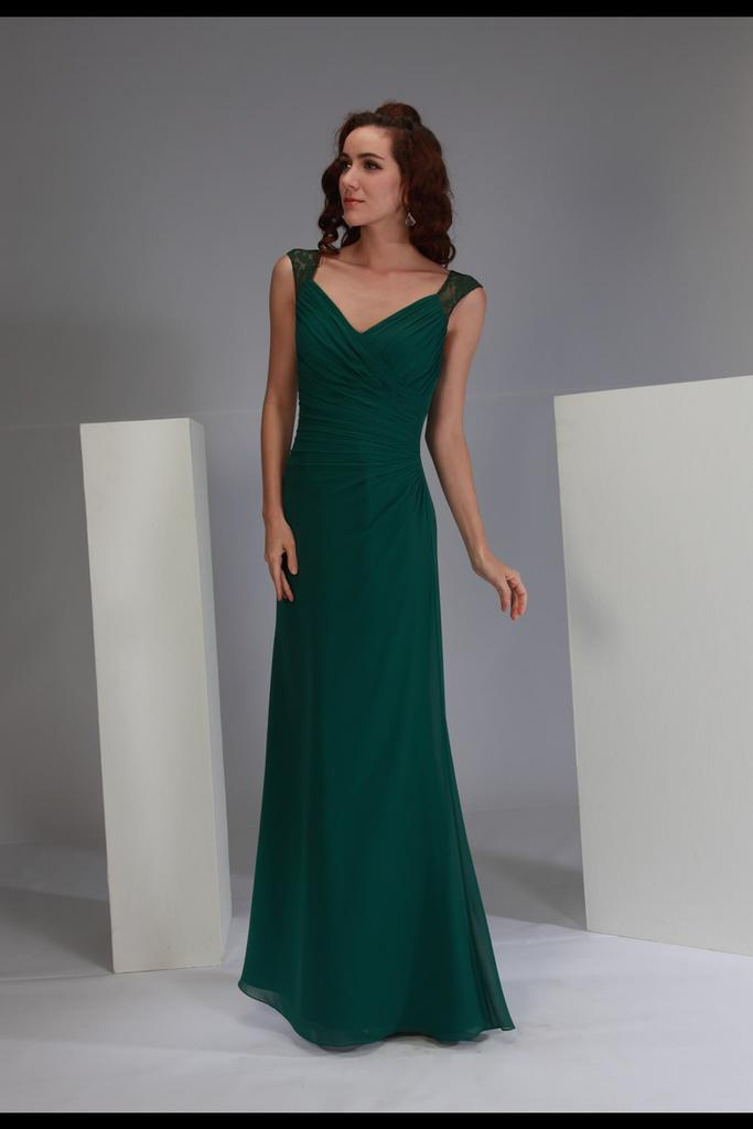 Sweetheart Neckline Bridesmaid Dress with Lace Straps
